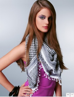 Model wearing Keffiyeh