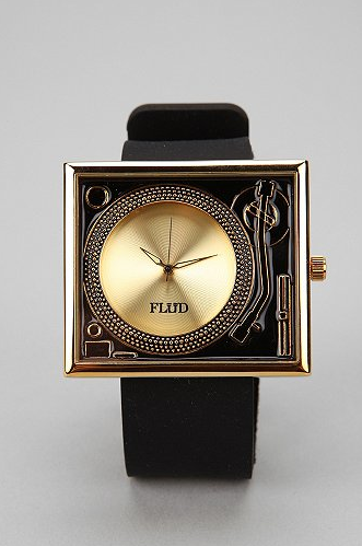 Flud Turntable watch gold 80